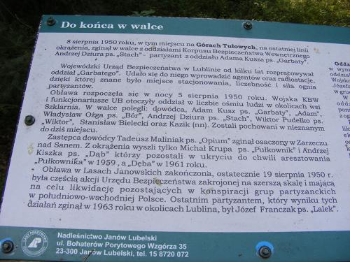 """70 Rocznica Ostatniej Walki Oddziału NZW """"Garbatego"""" z KBW, Lasy Janowskie, 20 sierpnia"""