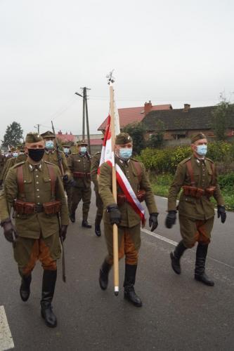 Odsłonięcie symbolicznej mogiły pomordowanych żołnierzy NSZ, Potok Stany, 11 październik